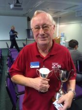 Roger G3SXW with the Liliput Cup at RSGB Convention 2014
