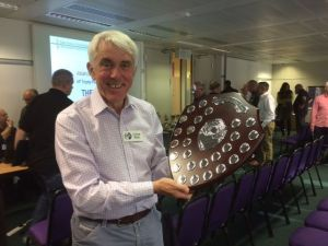 Nigel G3TXF with the Roseberry Shield RSGB Convention 2014